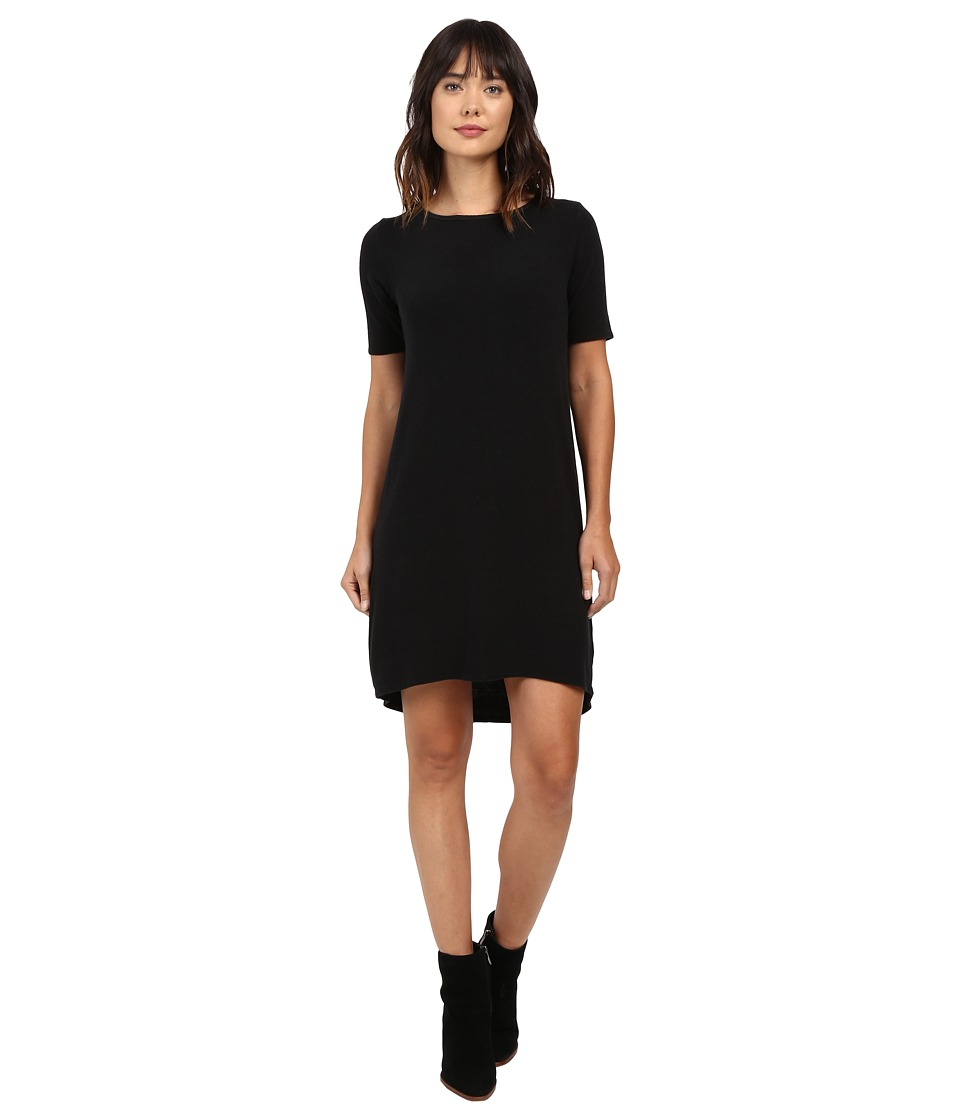 Allen Allen - Short Sleeve Dress (Black) Women's Dress