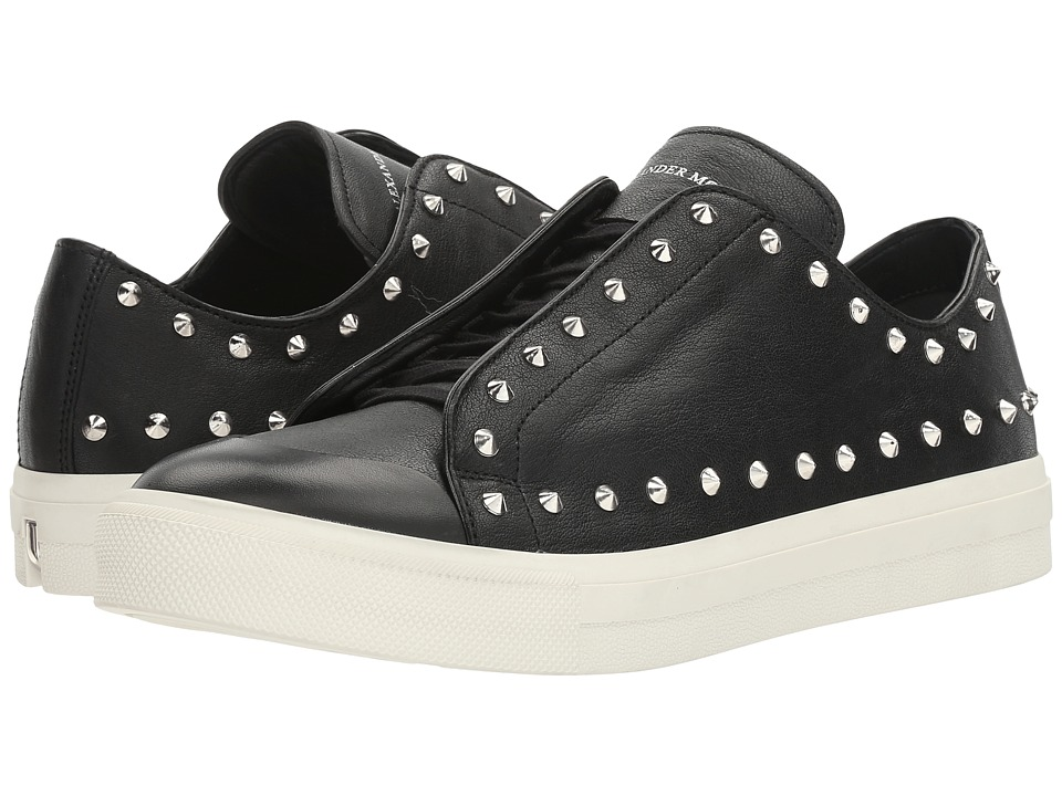 Alexander McQueen - Punk Studded Sneaker (Black) Men's Shoes