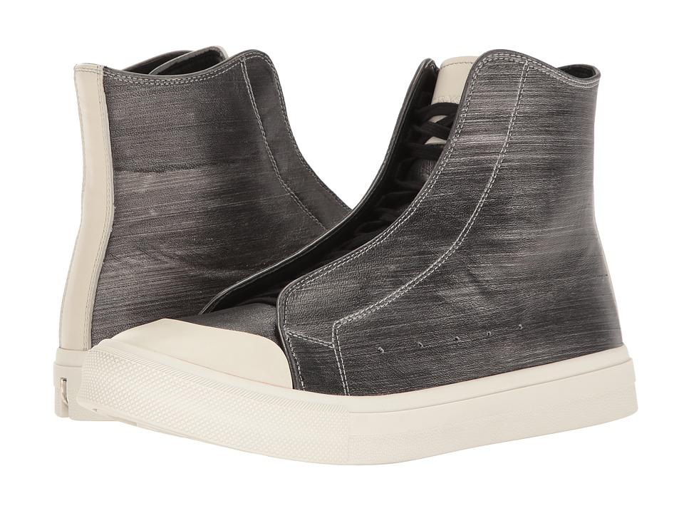 Alexander McQueen Clean High Top Sneaker (Ivory/Silver) Men