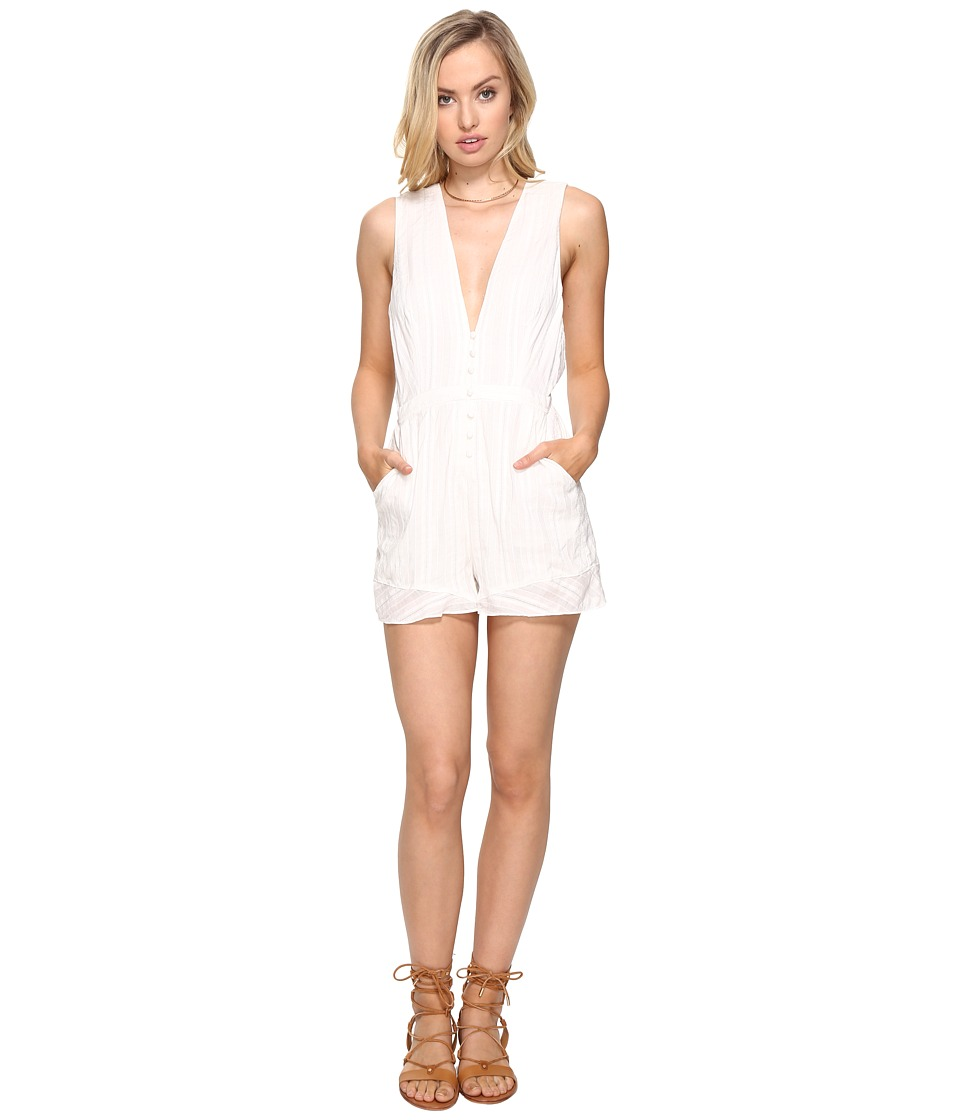 The Jetset Diaries - Horizon Romper (Ivory) Women's Jumpsuit & Rompers One Piece