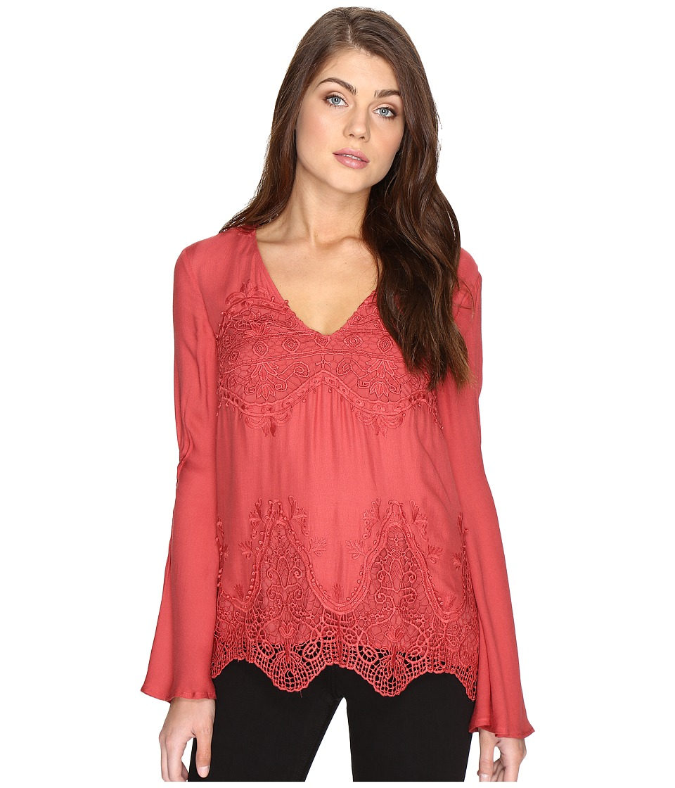 The Jetset Diaries - Vierna Top (Papaya) Women's Clothing