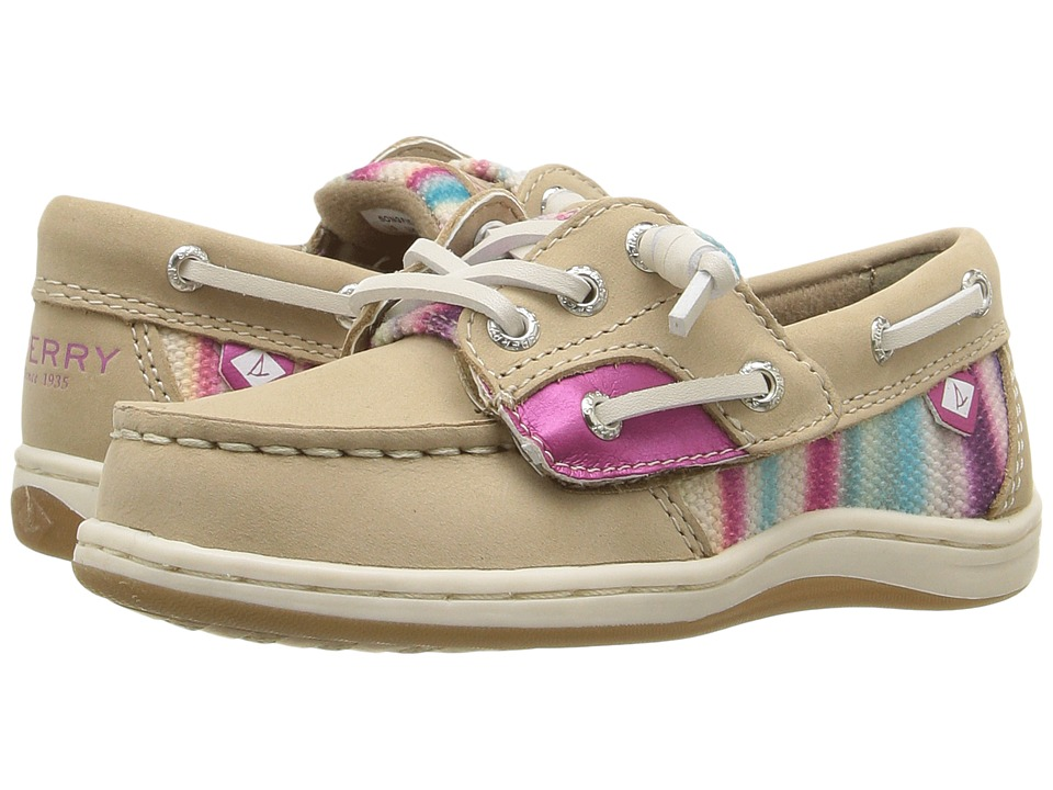Sperry Kids - Songfish Jr. (Toddler/Little Kid) (Silver Cloud/Stripe) Girl's Shoes