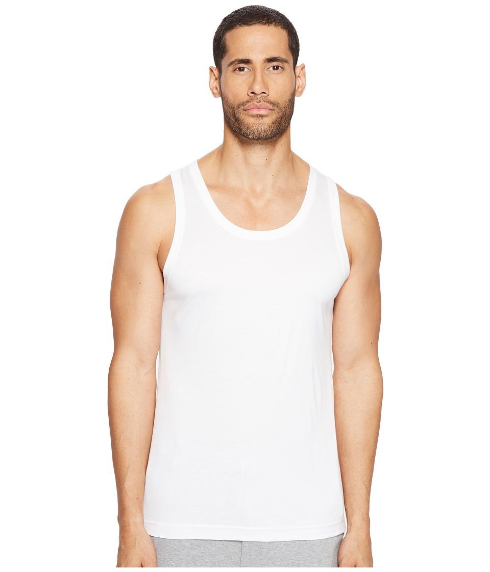 Dolce & Gabbana - Polka Dot Silk Modal Tank Top (White) Men's Sleeveless