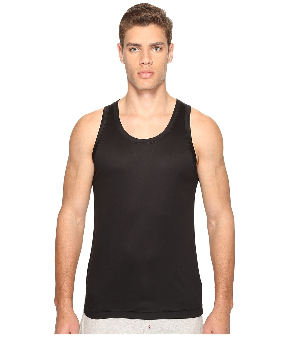 Dolce & Gabbana - Polka Dot Silk Modal Tank Top (Black) Men's Sleeveless