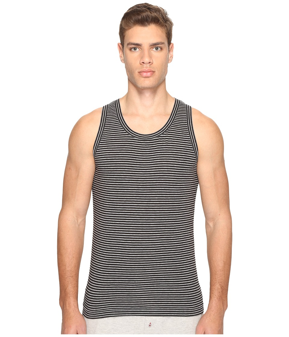 Dolce & Gabbana - Grey Stripes Stretch Cotton Tank Top (Dark Grey) Men's Sleeveless