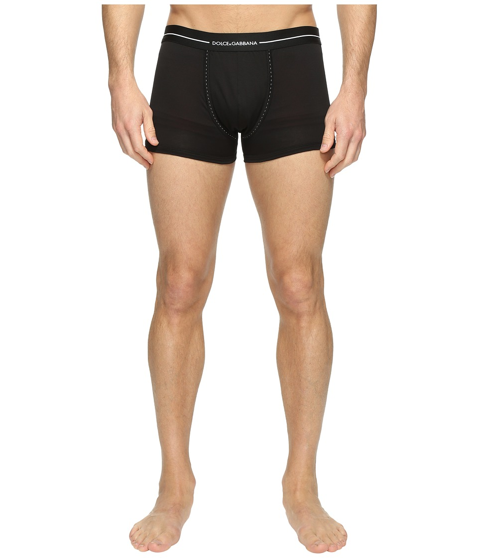 Dolce & Gabbana - Tailored Stitches Regular Boxer (Black) Men's Underwear