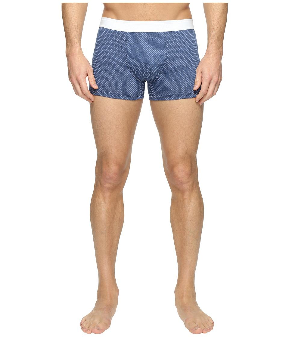 Dolce & Gabbana - Flower Print Regular Boxer (Dark Blue) Men's Underwear