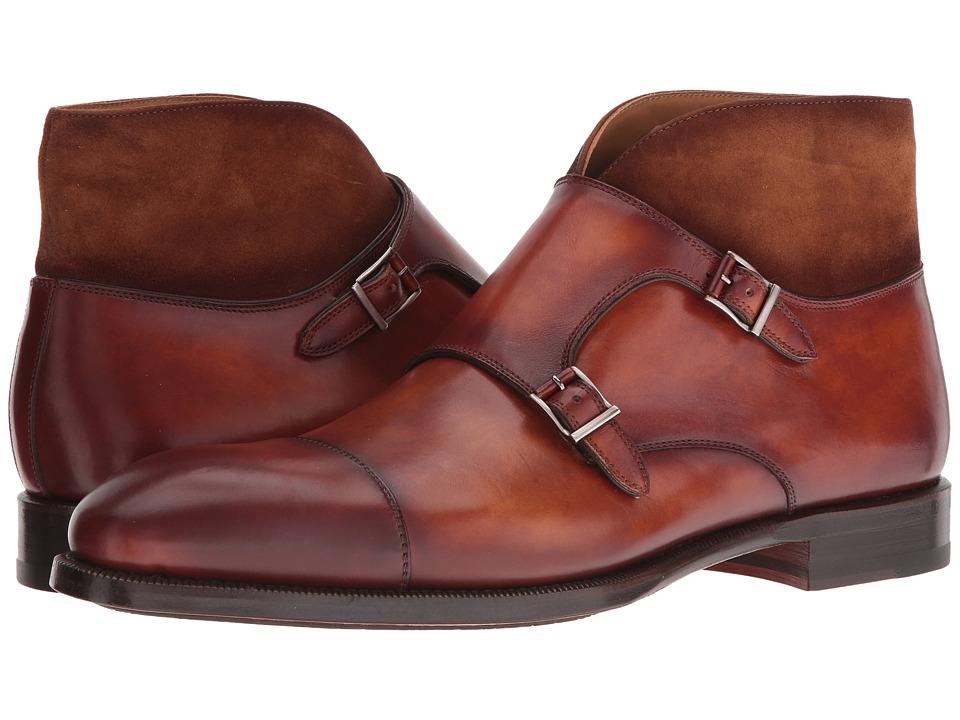 Magnanni - Valerio (Cognac) Men's Monkstrap Shoes