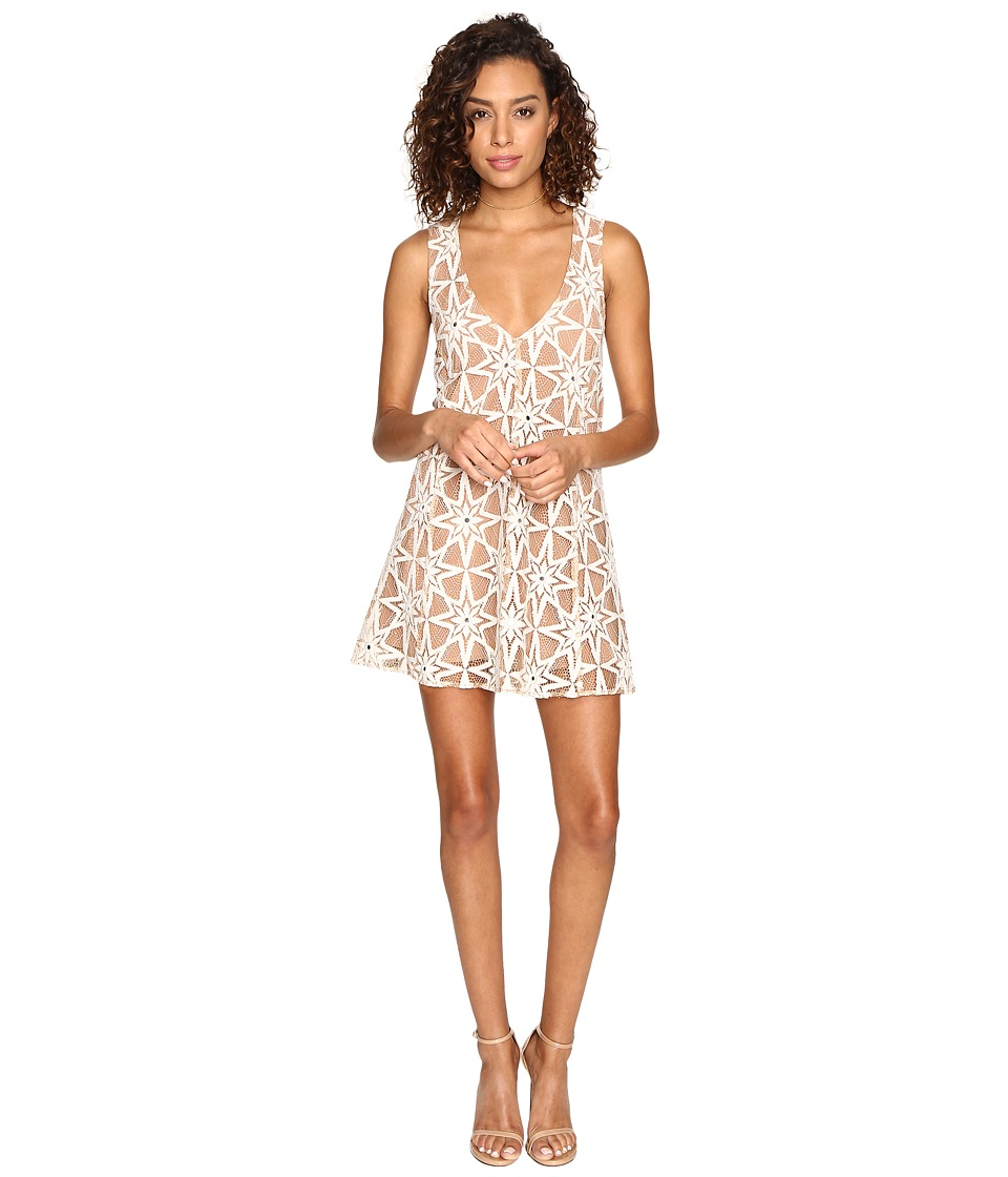 For Love and Lemons - Metz Mini Dress (Latte) Women's Dress