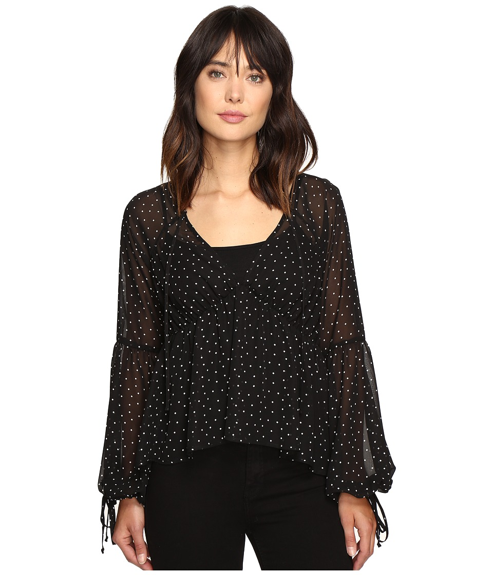 For Love and Lemons - Truffles Blouse (Noir Dot) Women's Blouse