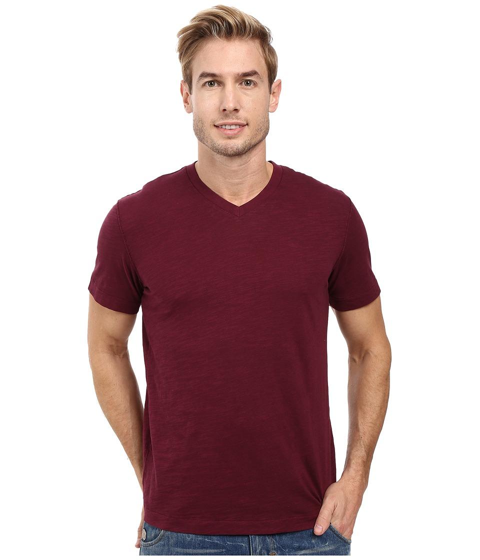 Mod-o-doc - El Porto Short Sleeve V-Neck Tee (Wine) Men's T Shirt