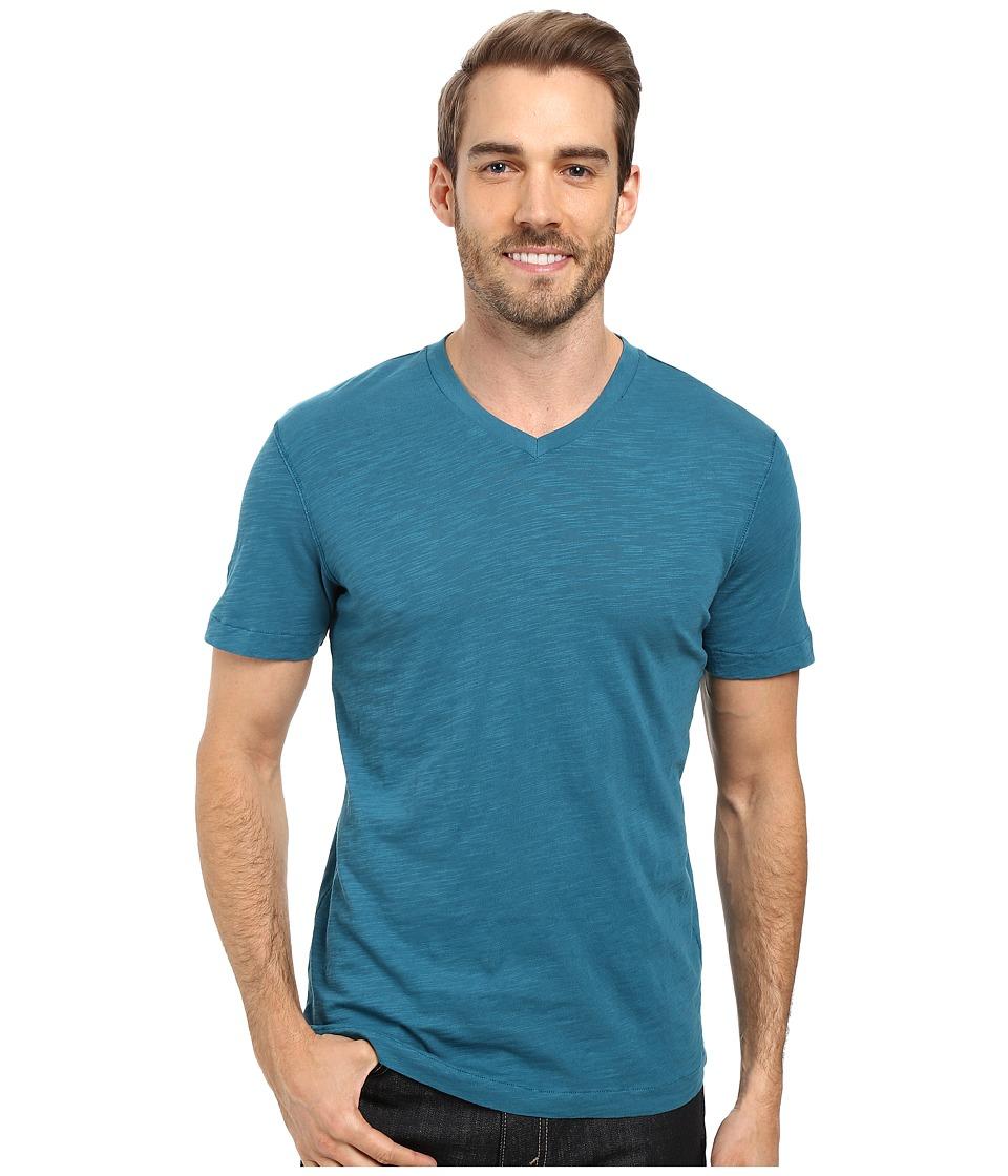 Mod-o-doc - El Porto Short Sleeve V-Neck Tee (Baltic) Men's T Shirt