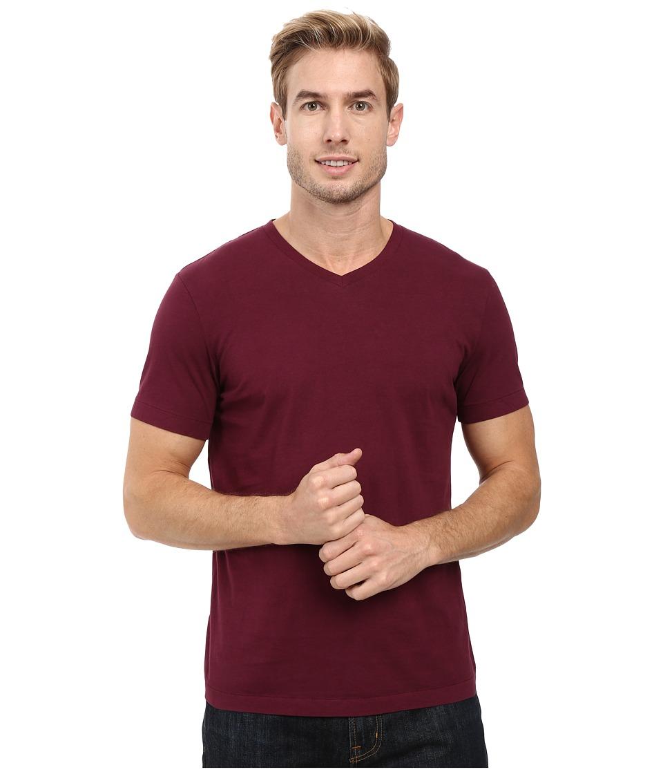 Mod-o-doc - Del Mar Short Sleeve V-Neck Tee (Wine) Men's T Shirt