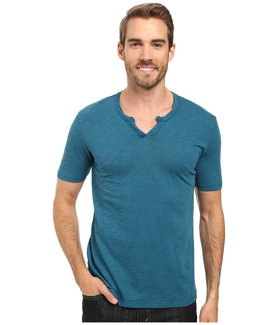 Mod-o-doc - Topanga Short Sleeve Notch V-Neck Tee (Baltic) Men's T Shirt