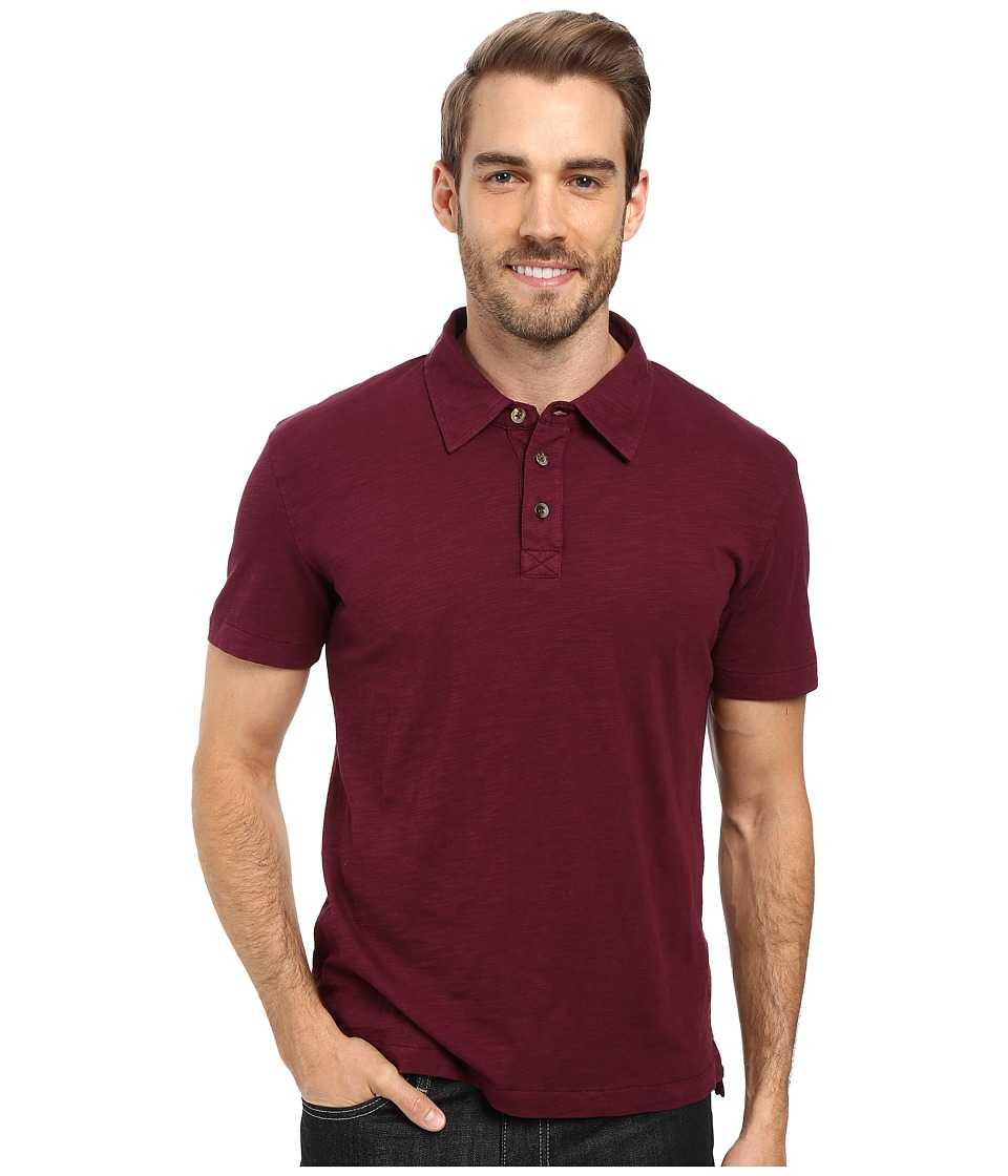 Mod-o-doc - Zuma Short Sleeve Polo (Wine) Men's Clothing