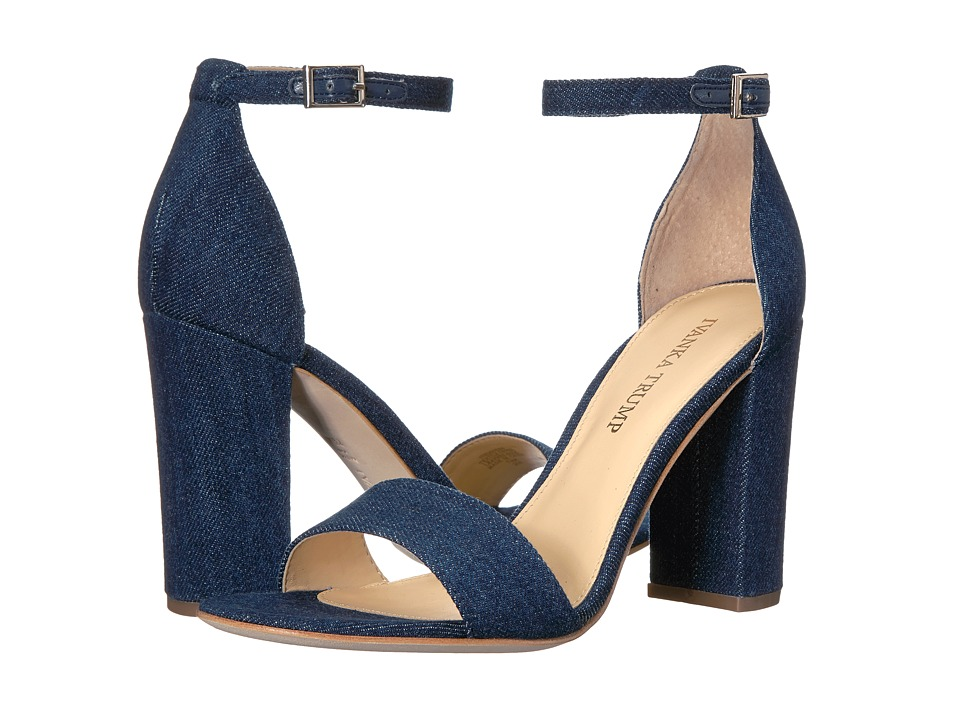 Ivanka Trump Klover4 Dark Blue Fabric High Heels