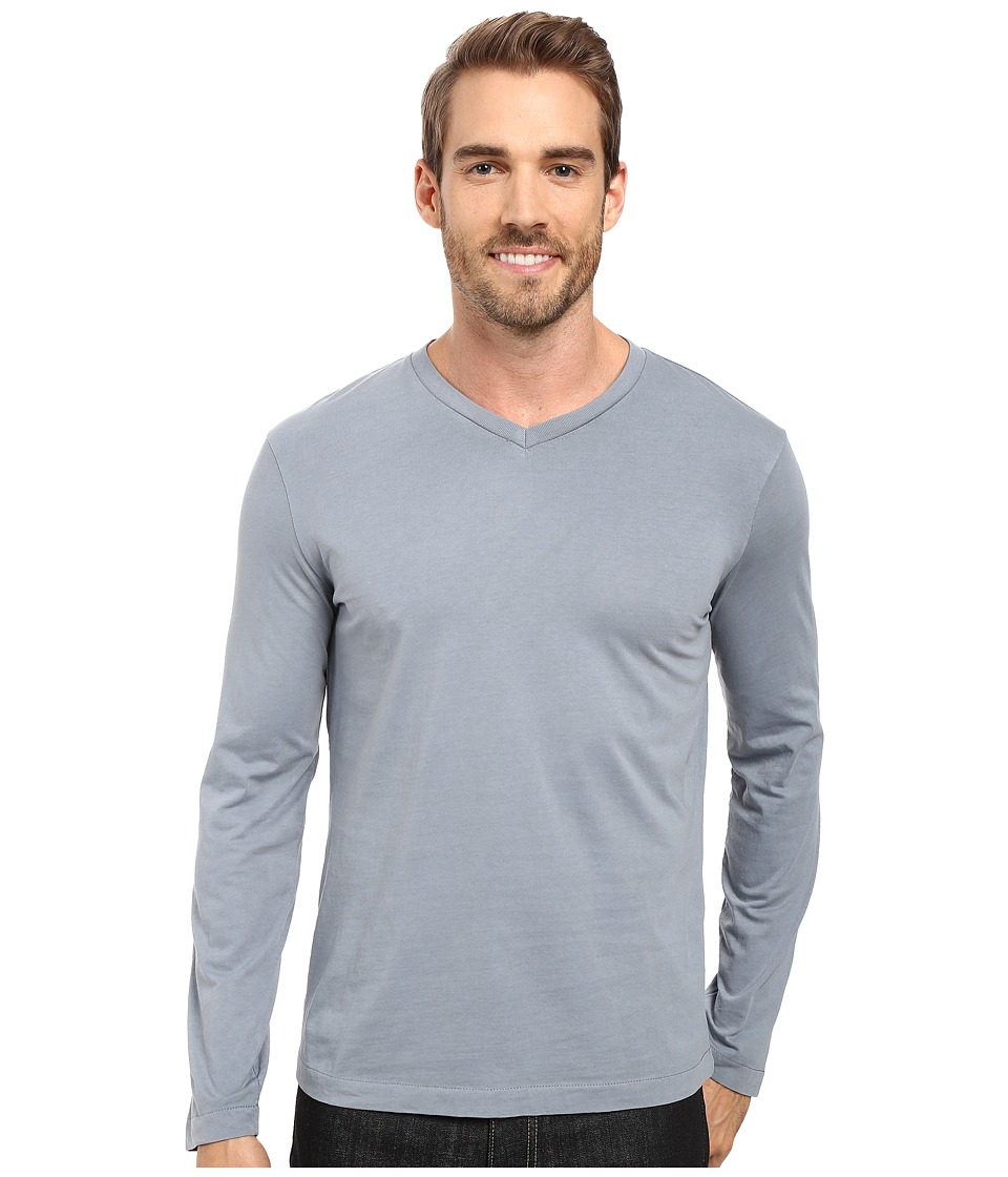 Mod-o-doc - Cardiff Long Sleeve Jersey V-Neck Tee (Castlerock) Men's T Shirt