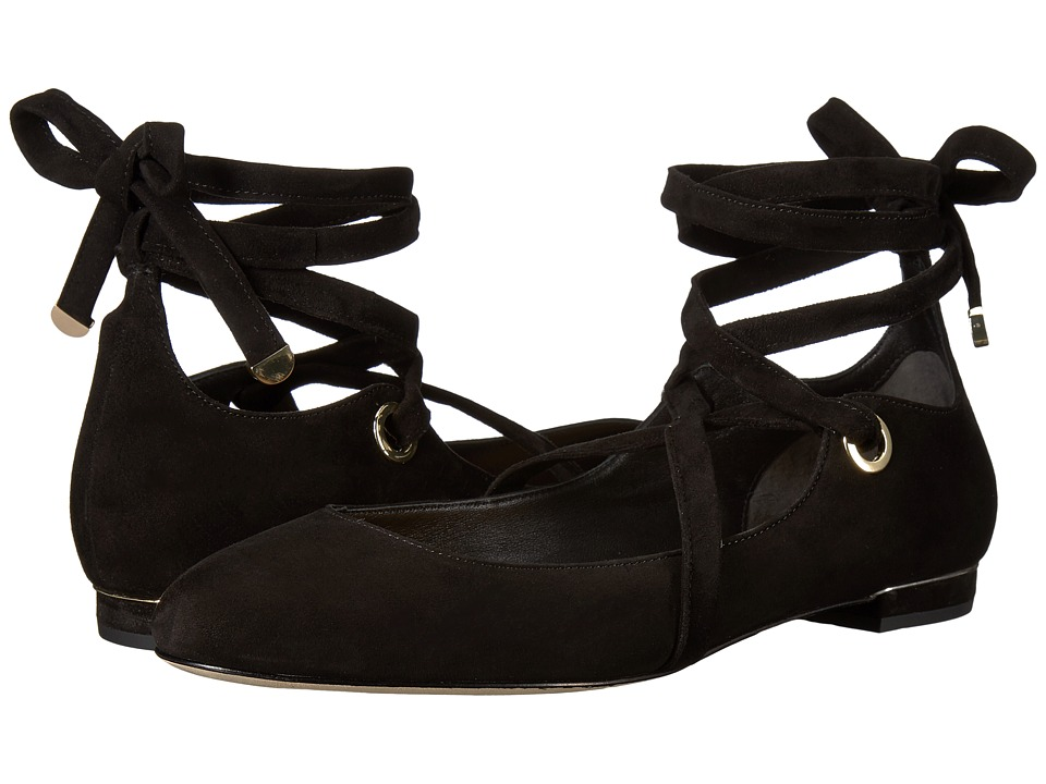Diane von Furstenberg - Dakar (Black Kid Suede) Women's Shoes