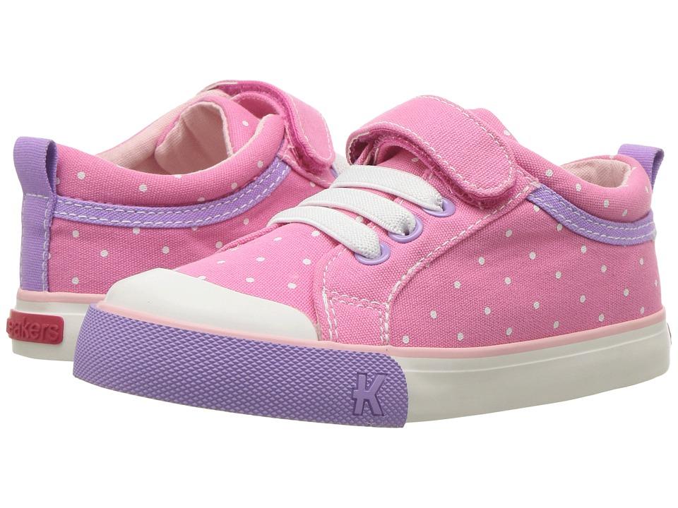 See Kai Run Kids Kristin (Toddler/Little Kid) (Hot Pink Dots) Girls Shoes