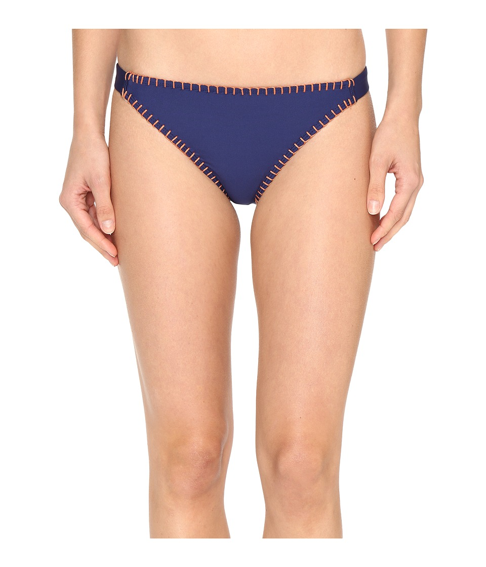 Splendid - Stitch Solid Tab Side Pants (Navy) Women's Swimwear