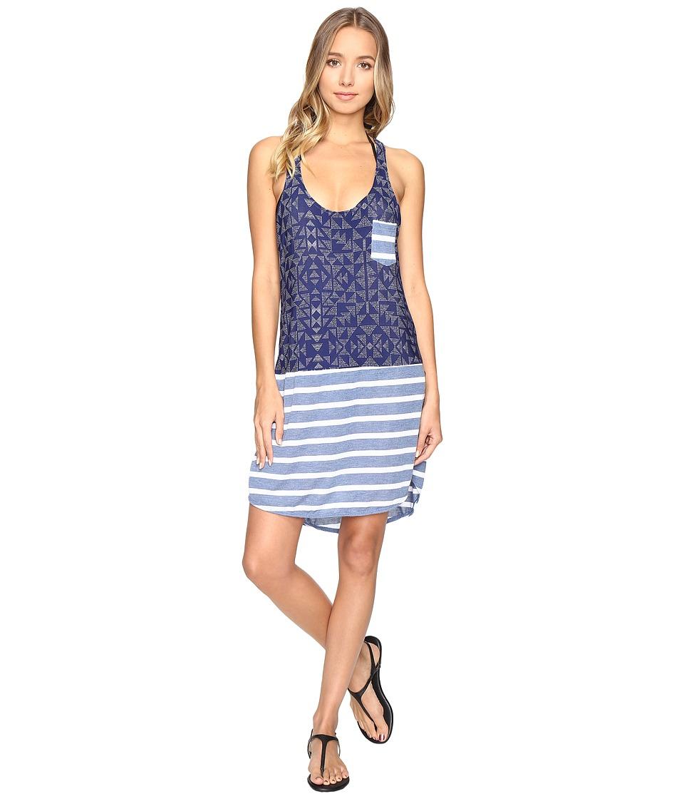 Splendid - Deckhouse Geo Dress Cover-Up (Indigo) Women's Swimwear