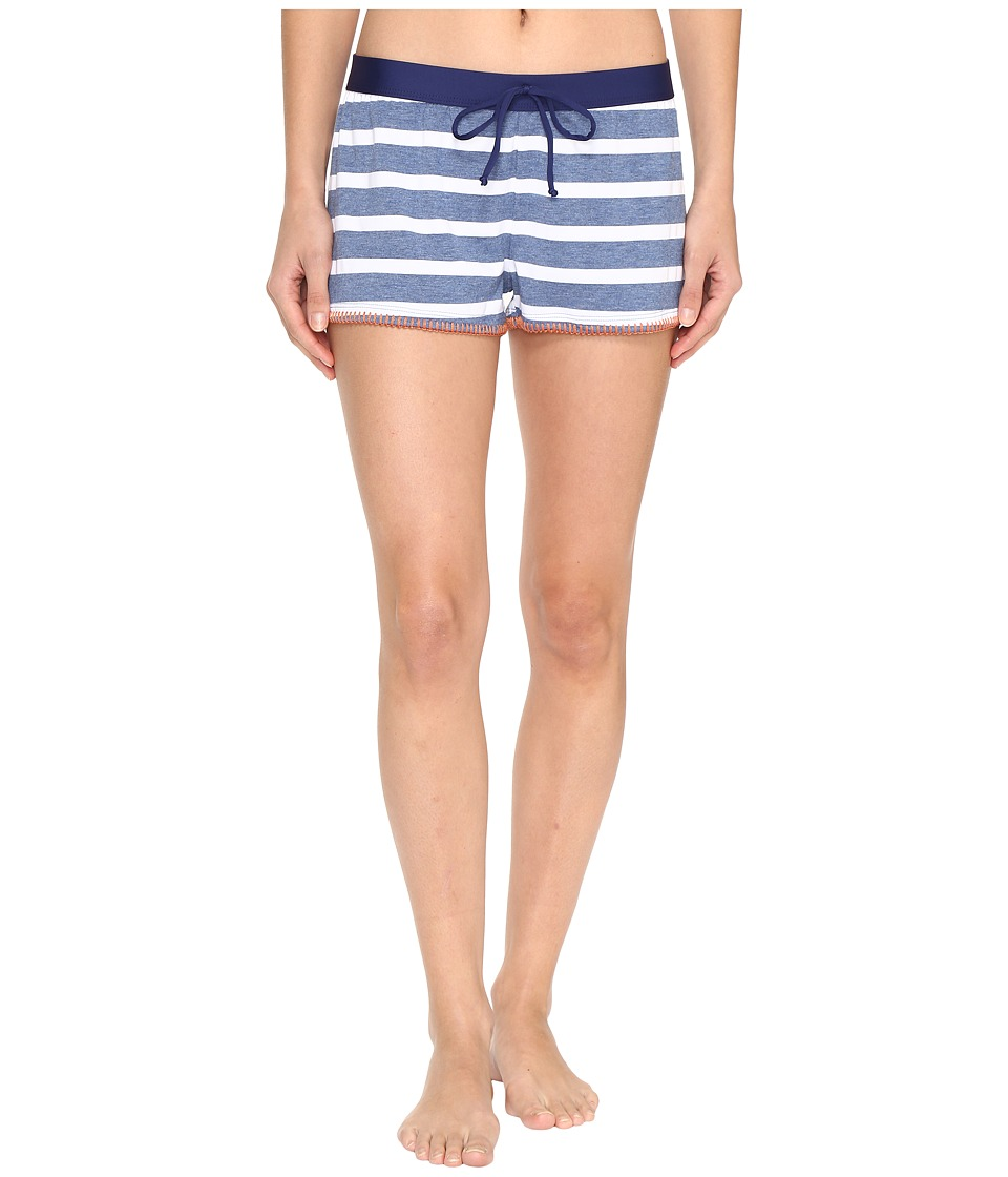 Splendid Chambray Cottage Boyshorts Blue Swimwear