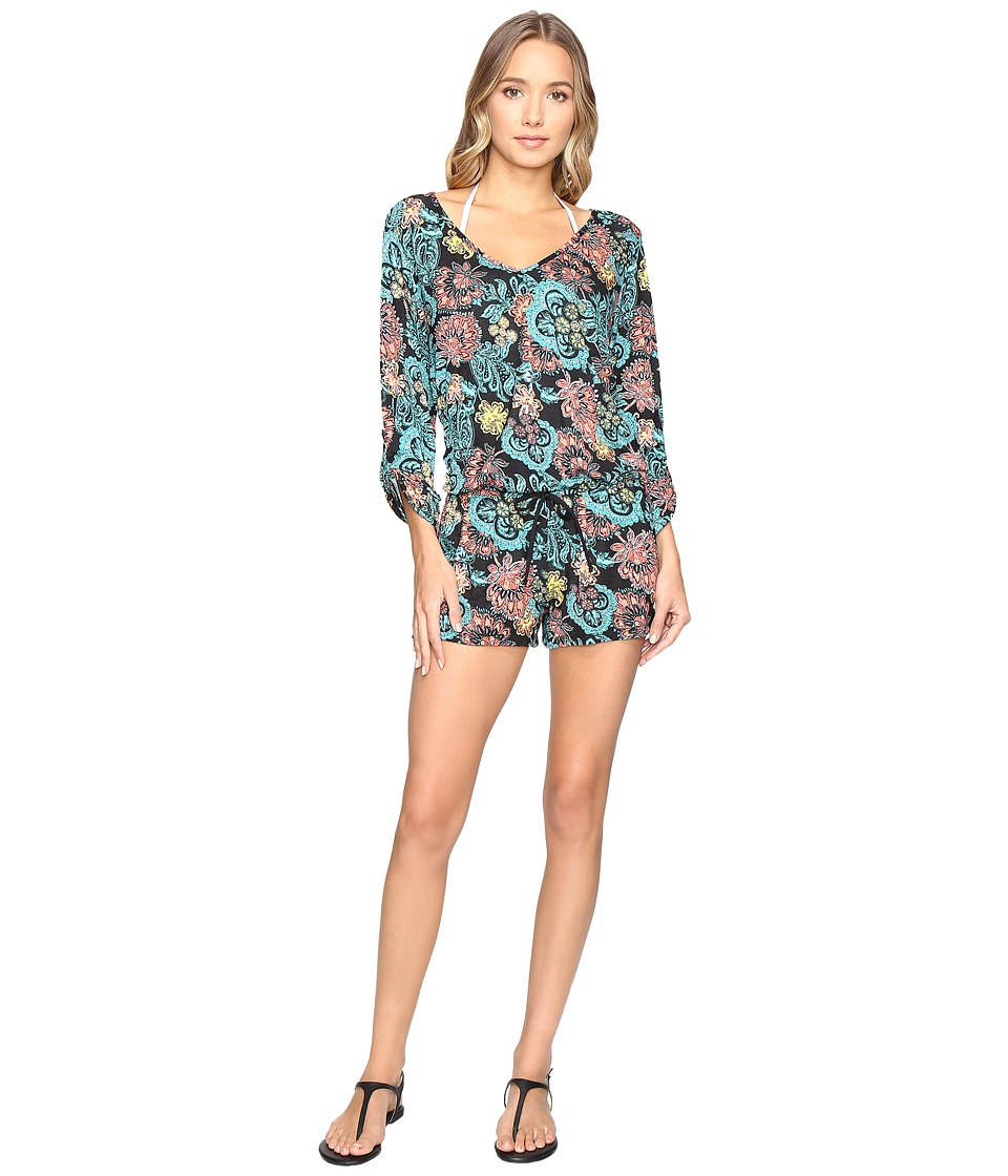 Splendid - Farmhouse Floral Romper Cover-Up (Multi) Women's Jumpsuit & Rompers One Piece