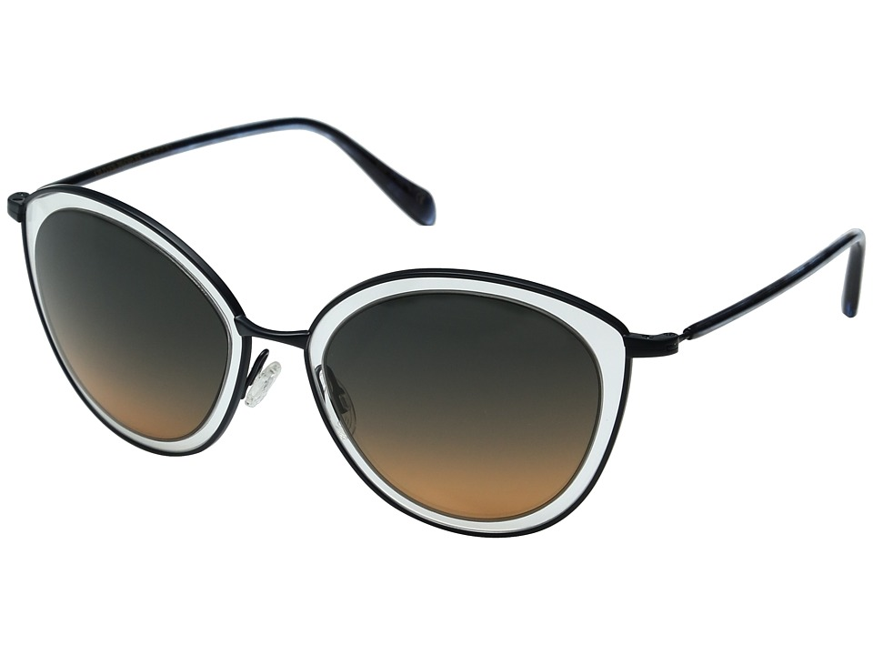Oliver Peoples - Gwynne (Navy/Sunset Gradient Flash Mirror) Fashion Sunglasses