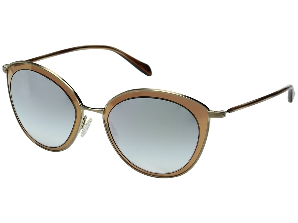 Oliver Peoples - Gwynne (Gold/Steel Gradient Mirror) Fashion Sunglasses