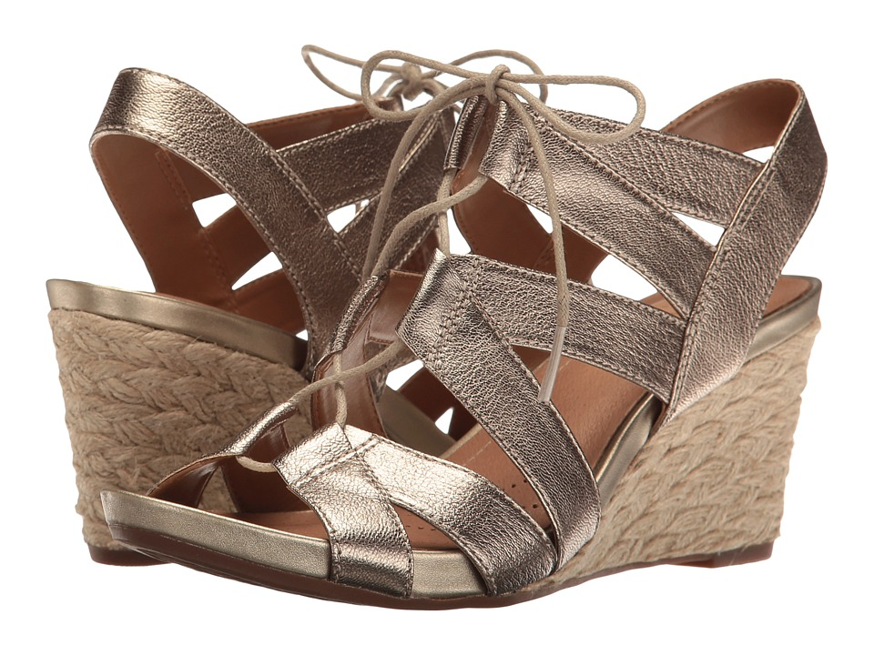 Clarks - Acina Chester (Champagne/Gold Metallic) Women's Sandals