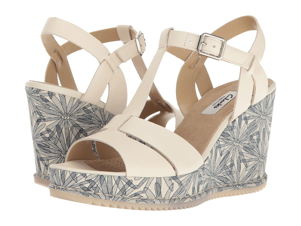 Clarks - Adesha River (White Leather) Women's Sandals