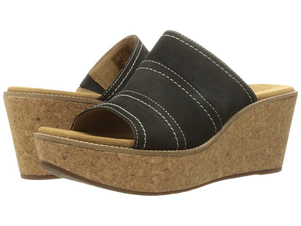 Clarks - Aisley Lily (Black Nubuck) Women's Sandals