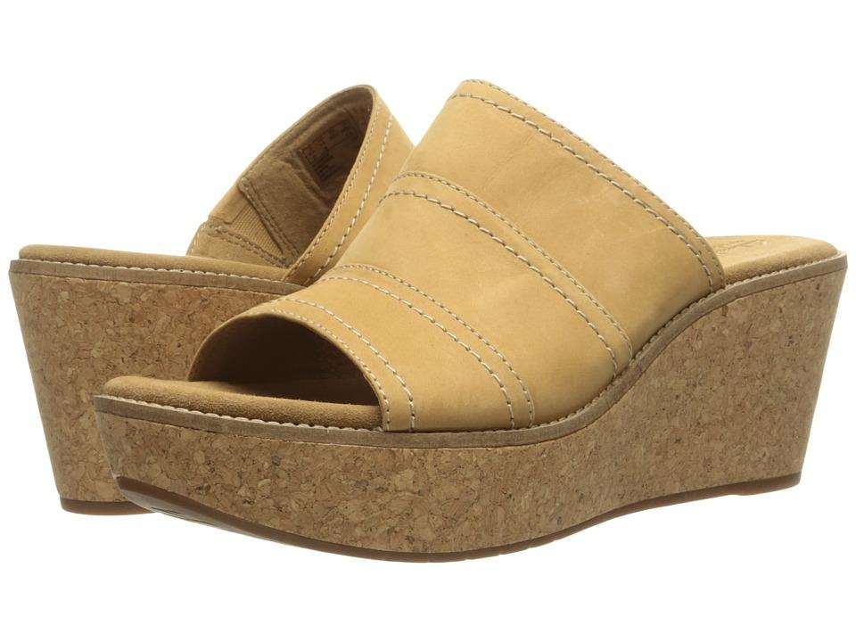 Clarks - Aisley Lily (Light Tan Nubuck) Women's Sandals