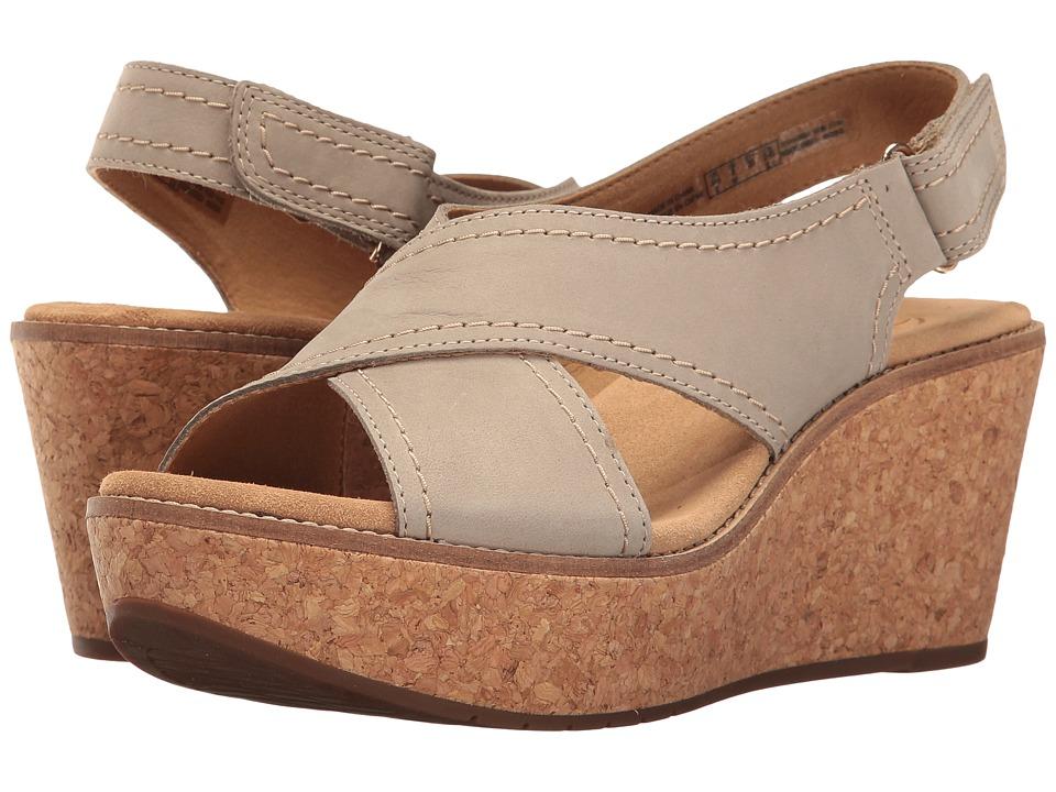 Clarks - Aisley Tulip (Sage Nubuck) Women's Sandals