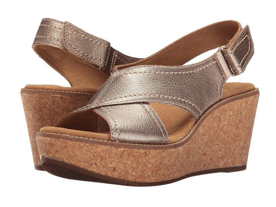 Clarks Aisley Tulip (Gold Metallic Leather) Women