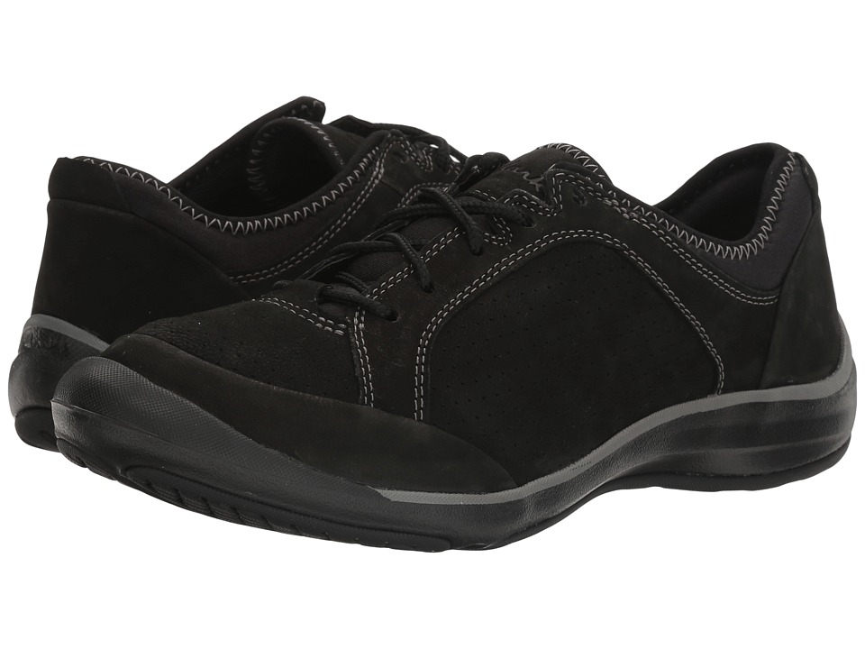 Clarks Asney Lace (Black Nubuck) Women