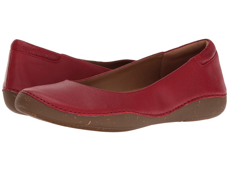Clarks - Autumn Sun (Red Nubuck) Women's Shoes