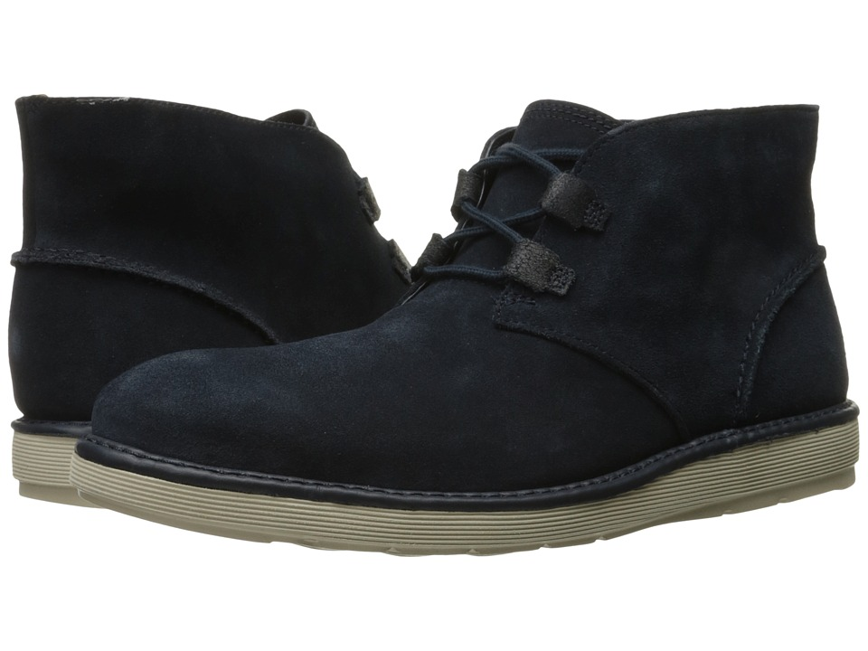 Clarks - Fayeman Hi (Navy Suede) Men's Shoes