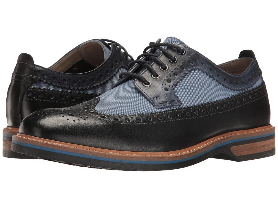 Clarks - Pitney Limit (Blue Combi Leather) Men's Shoes