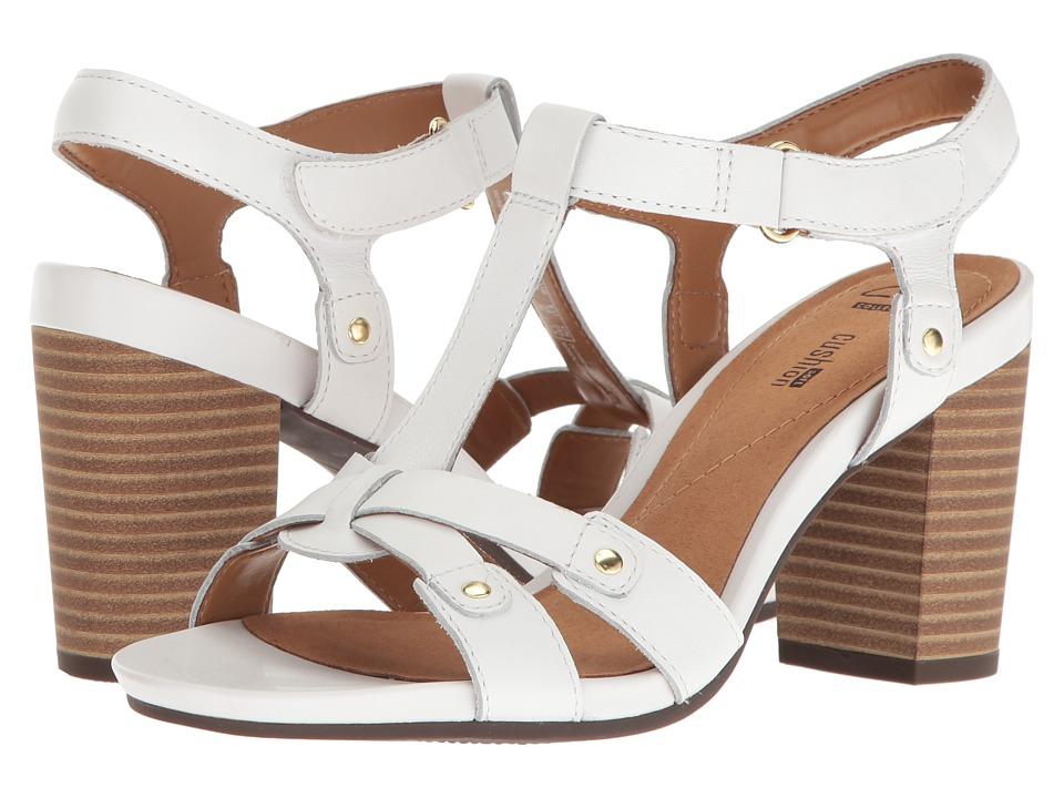 Clarks Banoy Valtina (White Leather) Women