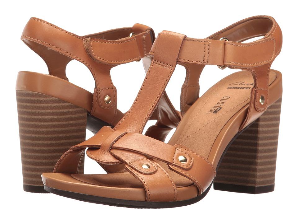 Clarks Banoy Valtina (Tan Leather) Women