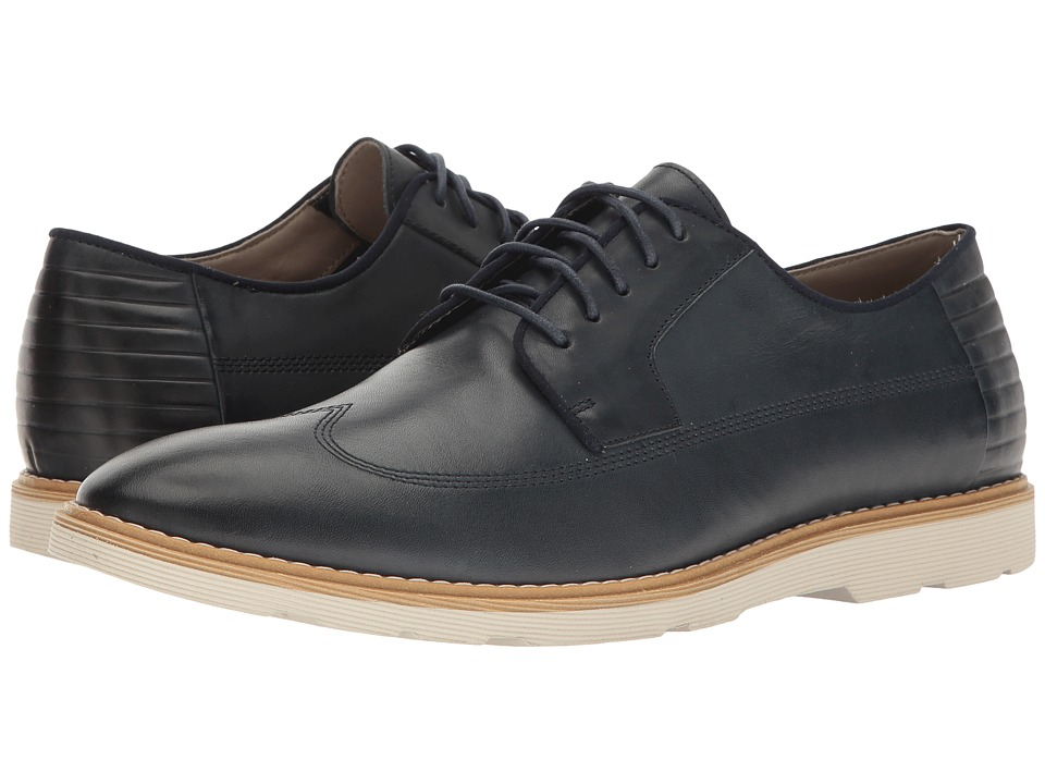 Clarks Gambeson Style (Navy Leather) Men