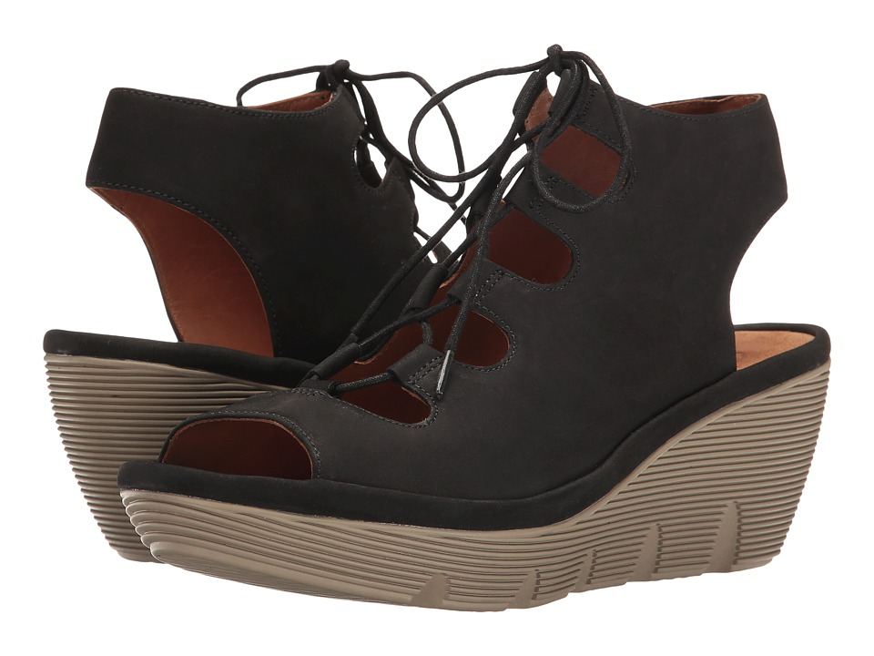 Clarks - Clarene Grace (Black Nubuck) Women's Sandals