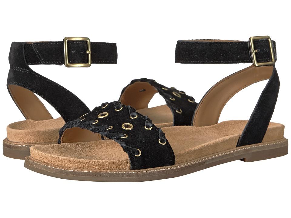 Clarks - Corsio Amelia (Black Suede) Women's Sandals
