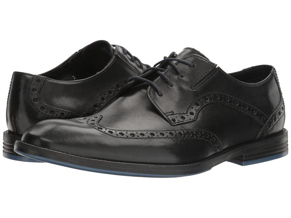 Clarks Prangley Limit (Black Leather) Men