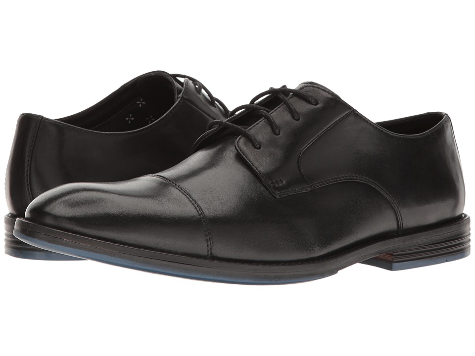 Clarks - Prangley Cap (Black Leather) Men's Shoes