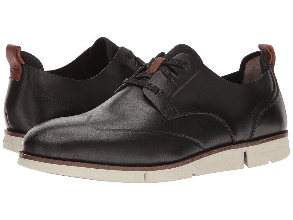 Clarks - Trigen Wing (Black Leather) Men's Shoes