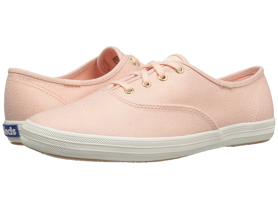Keds - Champion Metallic Canvas (Rose Gold Metallic) Women's Lace up casual Shoes
