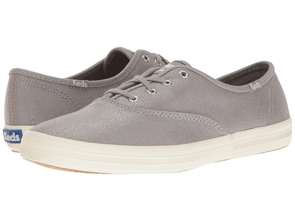 Keds - Champion Metallic Canvas (Silver Metallic) Women's Lace up casual Shoes