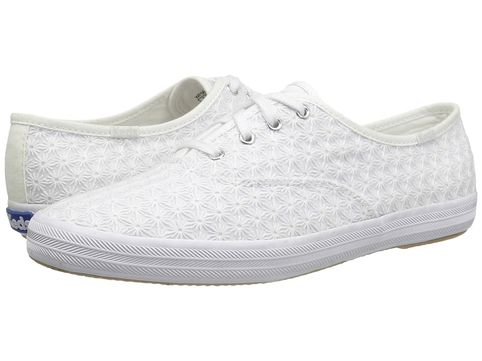 Keds - Champion Mini Daisy (White) Women's Lace up casual Shoes